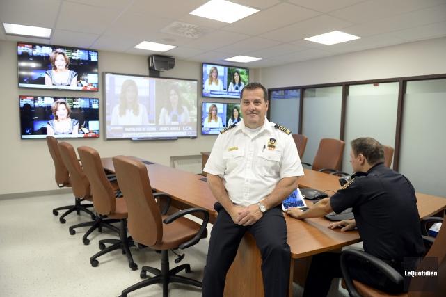 Le directeur du Service de sécurité incendie, Carol... (Photo Le Quotidien, Jeannot Lévesque)