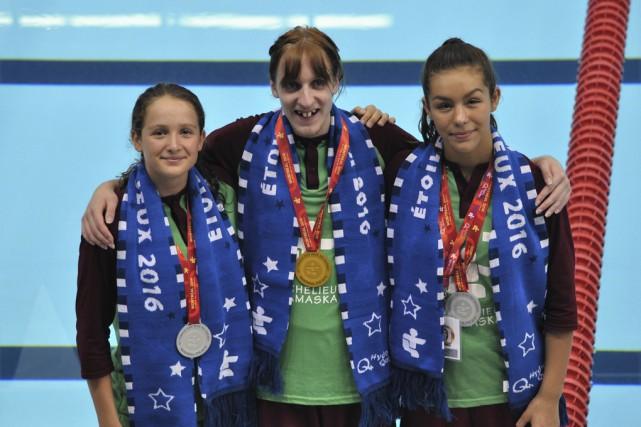 Les trois médaillés de la première journée de... (fournie par Jean Bélanger)