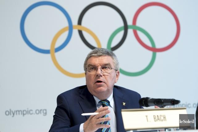 Le président du Comité international olympique Thomas Bach... (Photothèque Le Soleil)
