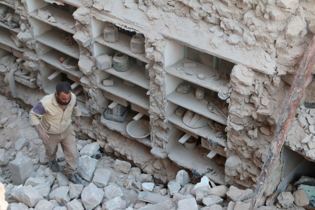 Déjà lundi, au moins 21 civils ont péri... (Photo Reuters)