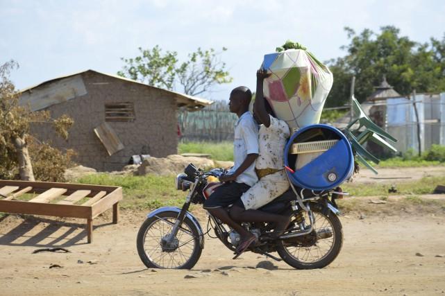 La majorité des personnes fuyant le Soudan du... (Photo AP)