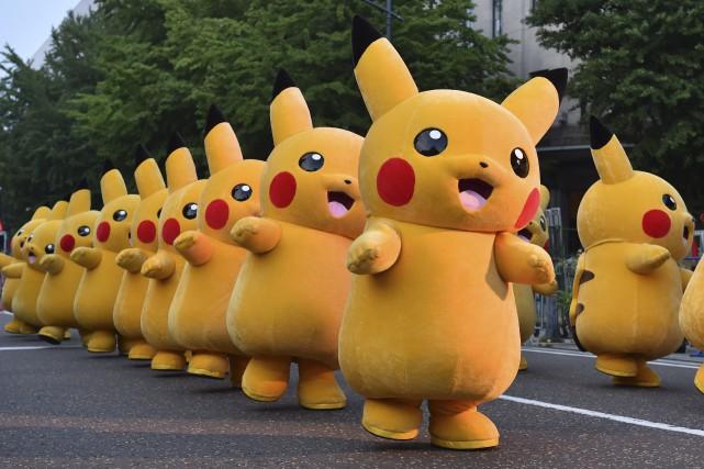 Pikachu, une des vedettes du jeu Pokémon Go.... (PHOTO KAZUHIRO NOGI, ARCHIVES AFP)