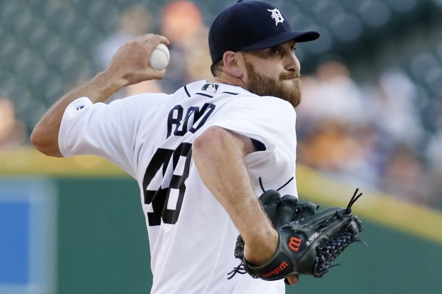 Le lanceur des Tigers Matt Boyd a alloué... (photo Duane Burleson, AP)