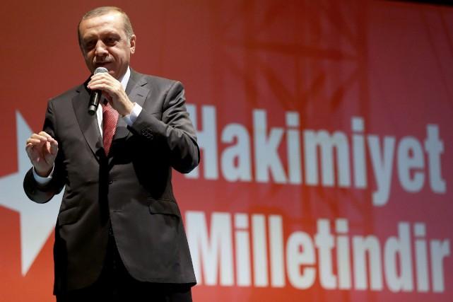 Le président turc Recep Tayyip Erdogan... (AP)