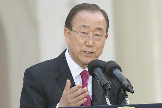 Ban Ki-moon... (PHoto Herman Kariuki, Reuters)