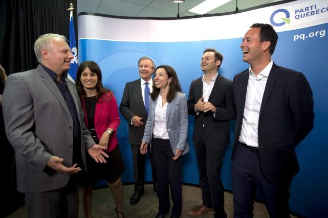 Les candidats à la direction du Parti québécois,... (La Presse)