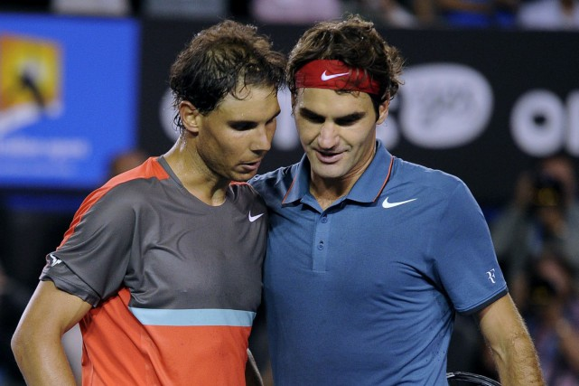 Rafael Nadal et Roger Federer... (Archives AP)