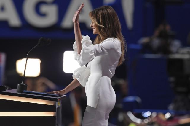 Melania Trump avait déclaré au réseau NBC, avant... (AFP)
