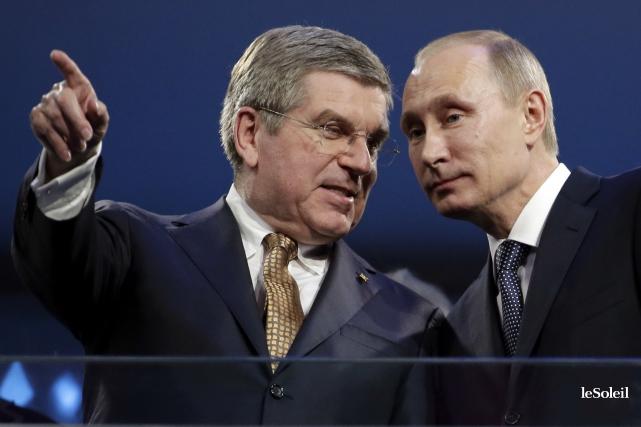 Le président du Comité international olympique, Thomas Bach,... (Photothèque Le Soleil)