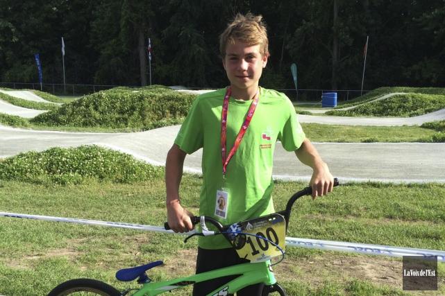 Édouard «Bazou» Proulx a remporté l'or au contre-la-montre... (Maxime Massé, La Voix de l'Est)