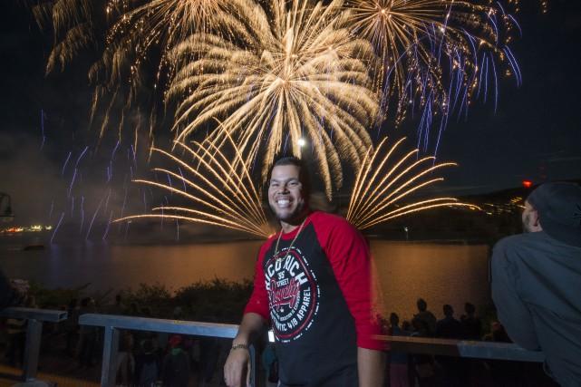 L'ouverture des feux d'artifice de la Fête du... (Spectre média, Julien Chamberland)