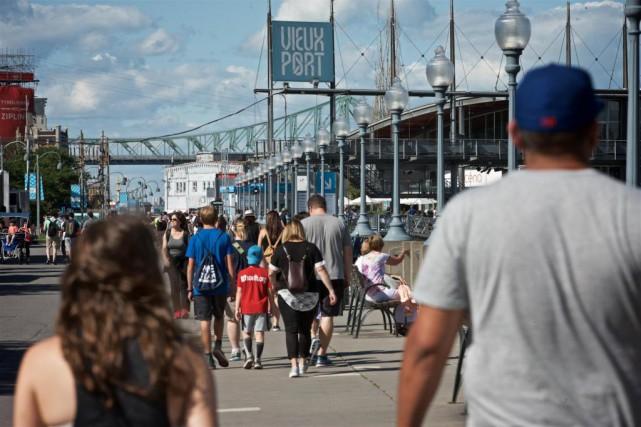 Le Vieux-Port a connu une augmentation de 35%... (Photo André Pichette, La Presse)