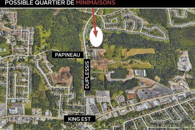 Un terrain est réservé au projet de construction... (Réalisé à partir de google maps)