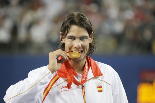 Aux Jeux de Pékin en 2008, l'Espagnol avait... (photo Elise Amendola, archives AP)