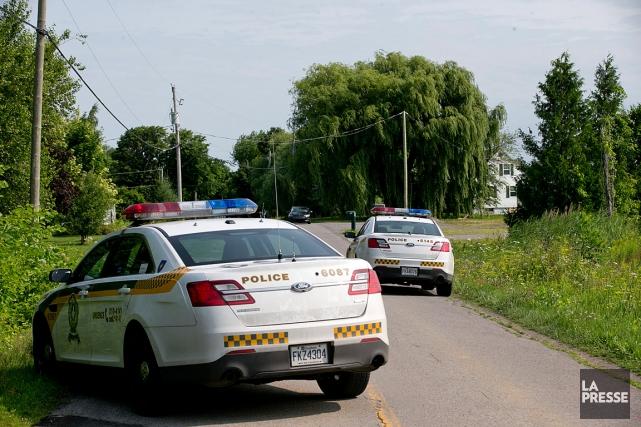 L'homme a été blessé à Saint-Édouard-de-Napierville.... (PHOTO DAVID BOILY, LA PRESSE)