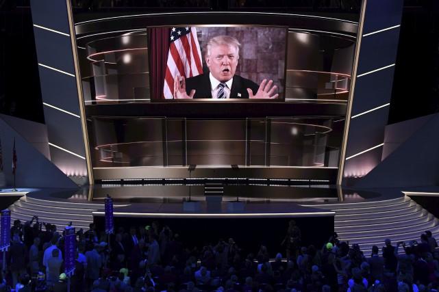 Donald Trump est apparu en vidéo durant le... (AFP, Jim Watson)