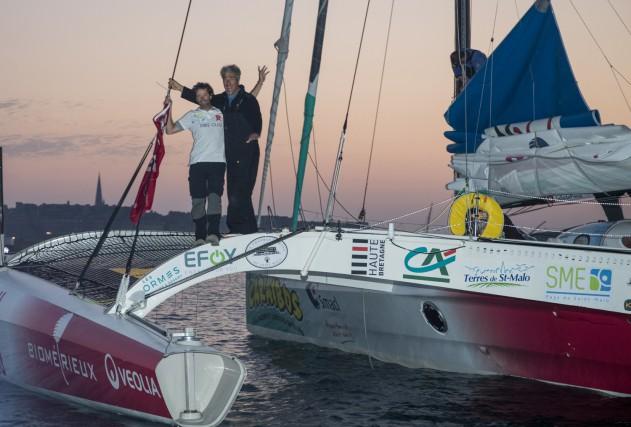 Charles Mony et Gilles Lamiré lors de leur... (Photo fournie par la TQSM, Pierre Bouras)