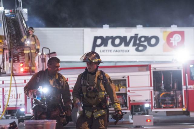 Un incendie a lourdement endommagé le Provigo Liette...