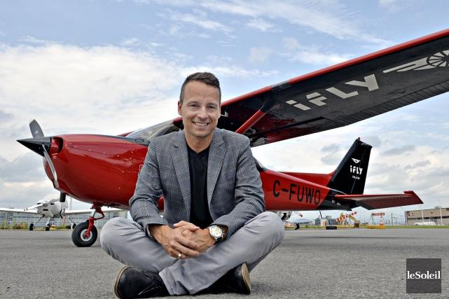 Pour Dany Gagnon, cofondateur de Chrono Aviation, lancer... (Le Soleil, Pascal Ratthé)