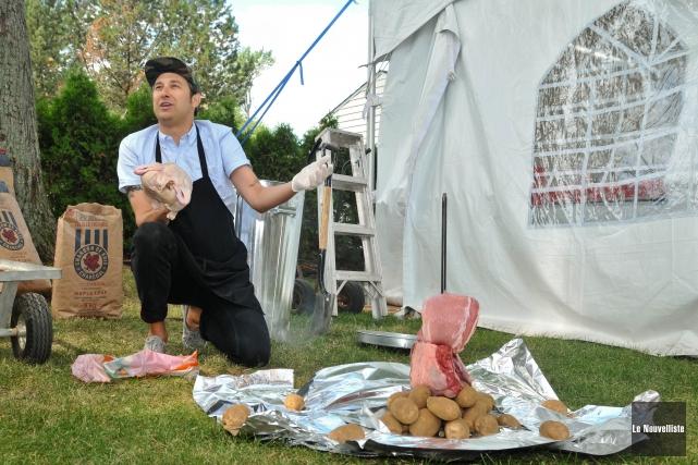 Bob le chef préparait unméchoui à l'occasion de... (Archives Le Nouvelliste)