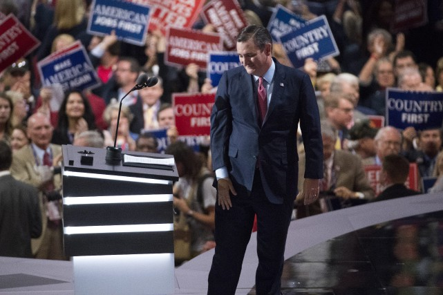 Le sénateur du Texas, Ted Cruz, a félicité... (Photo Evan Vucci, AP)