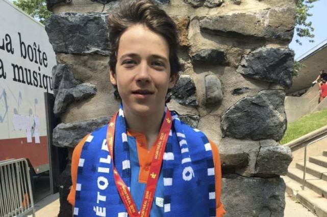 Après une médaille de bronze lundi, Mathias Guillemette... (Courtoisie)
