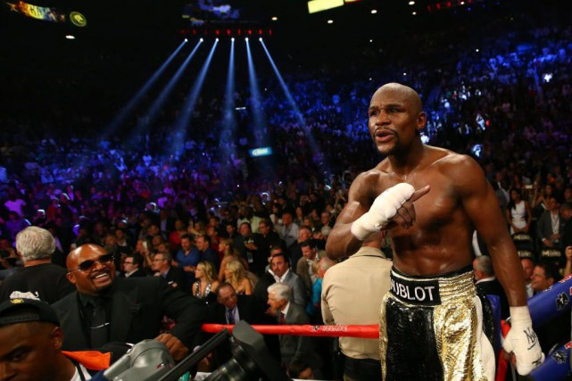 Floyd Mayweather fils a pris sa retraite en... (Photo Mark J. Rebilas, Archives USA TODAY Sports)