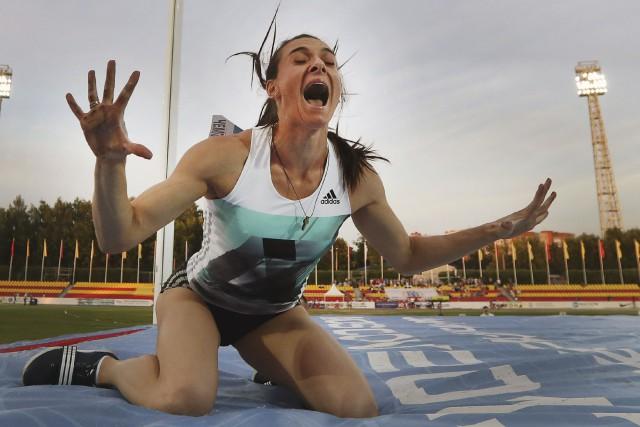 La «tsarine» de la perche Yelena Isinbayeva ne... (AFP, Alexander Kisilev)