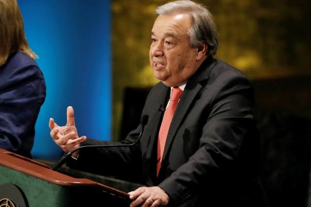 L'ancien Haut commissaire aux réfugiés de l'ONUAntonio Guterres.... (photo Mike Segar, REUTERS)