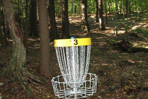 À Westbury, on peut maintenant jouer au disc-golf... (Fournie, Nil Lévesque)