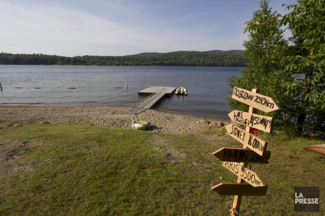 L'accès à la plage du Camp Massawippi a... (Spectre Média, René Marquis)