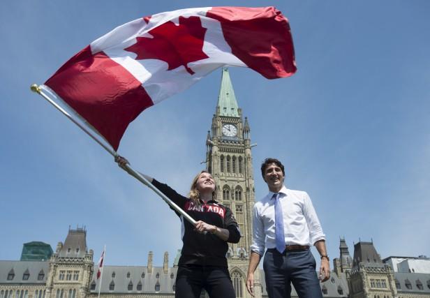 C'est la gymnaste Rosie MacLennan qui portera le... (La Presse Canadienne)