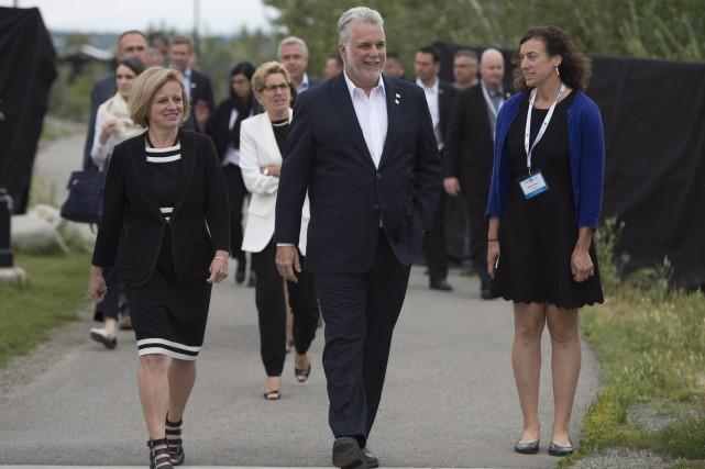 Philippe Couillard a affirmé qu'un accord pourrait être... (Photo Jonathan Hayward, La Presse Canadienne)