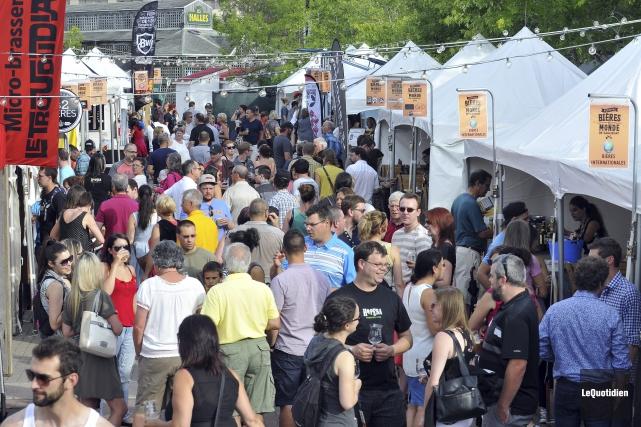 Le site du Festival des bières du monde... (Photo Le Quotidien, Rocket Lavoie)