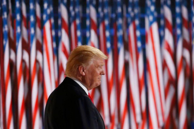 Donald Trump a dressé un portrait sombre de la... (Photo Mario Anzuoni, Reuters)