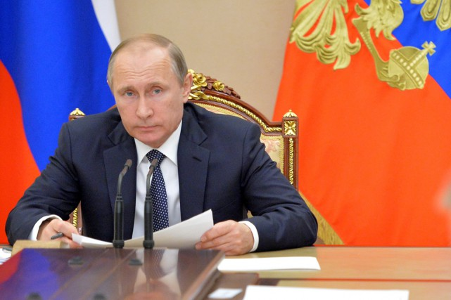 Le président russe Valdimir Poutine.... (photo Alexei Druzhinin, archives Sputnik/kremlin/AP)
