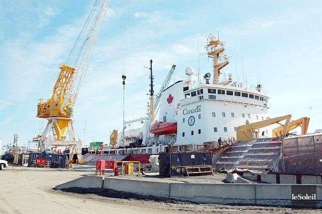 En 2011, 2012, le Pierre-Radisson, un navire de... (Photothèque Le Soleil)