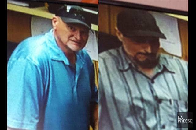 Les deux suspects recherchés pour vol ont été... (Courtoisie, SQ)