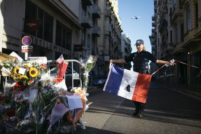 Lendemain de l'attentat à Nice du 14 juillet.... (The New York Times)