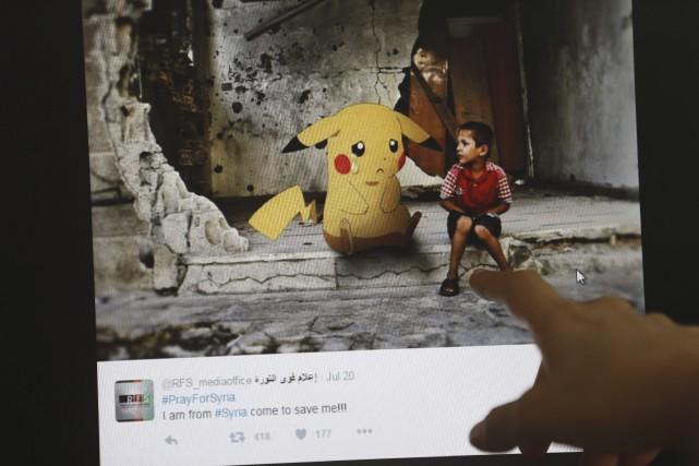 Le montage d'un artiste syrien qui utilise les... (AFP, JOSEPH EID)