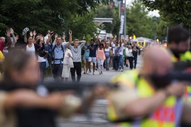L'attaque dans un centre commercial de Munich a... (AFP)