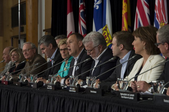 Les premiers ministres des provinces.... (THE CANADIAN PRESS)