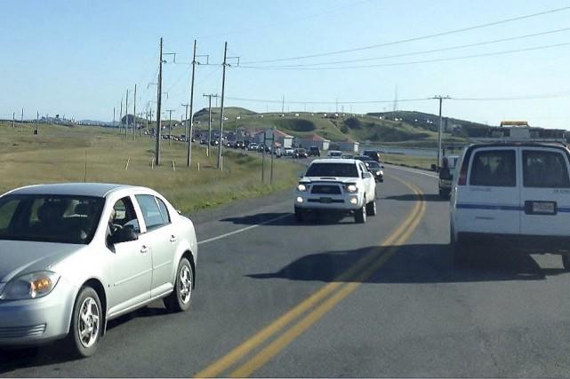 Les Madelinots ont rarement vu autant de trafic... (Collaboration spéciale Diane Hébert)