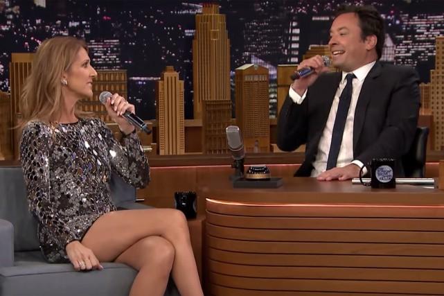 Céline Dion avecJimmy Fallon au Tonight Show... (IMAGE TIRÉE D'UNE VIDÉO)