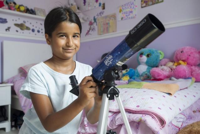 La petite Sahana Khatri caresse le rêve de... (La Presse Canadienne, Graham Hugues)