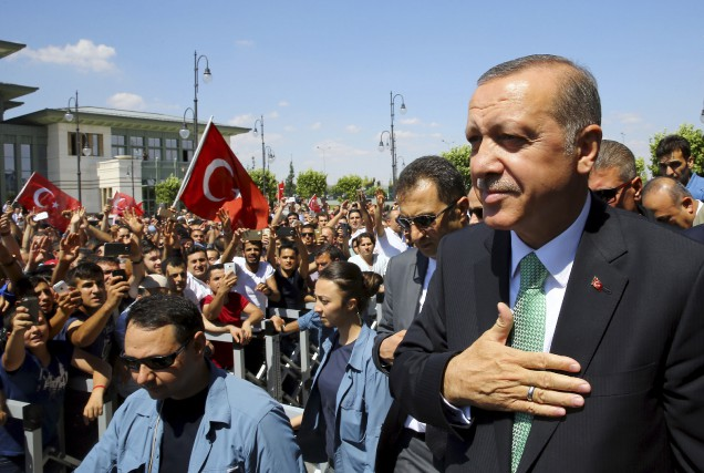 Le président turcRecep Tayyip Erdogan à son arrivée... (AP)