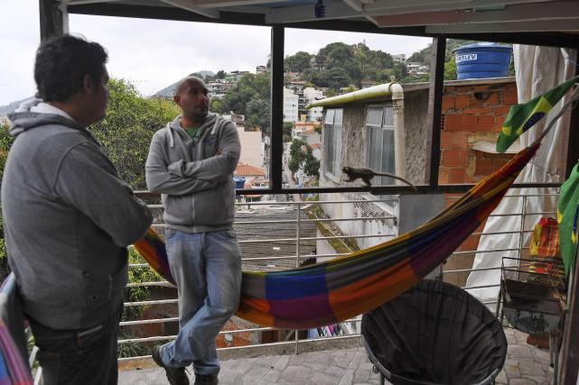 Le Green Culture Hostel, dans le favela Mangueira,... (AFP, Vanderlei Almeida)