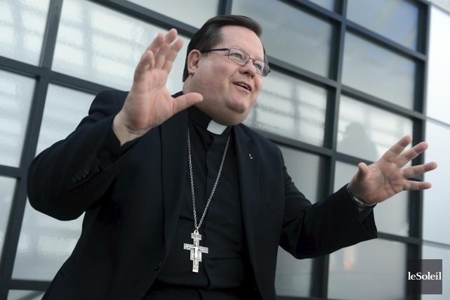 Le cardinal Gérald Cyprien Lacroix, archevêque de Québec.... (Photothèque Le Soleil)
