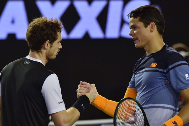 Andy Murray a vaincu Milos Raonic quatre fois... (PHOTO AFP)