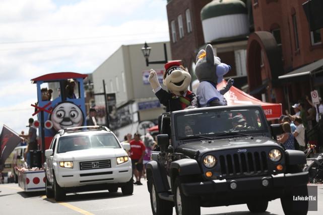 La parade des mascottes, qui devait avoir lieu... (Julie Catudal, La Voix de l'Est)